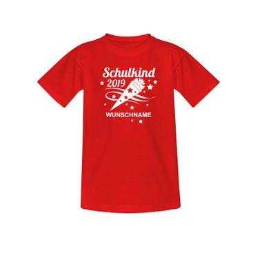 T-Shirt Schulkind 2019 Wunschname Einschulung 1. Klasse 10 Farben Kinder 98-164 – Bild 10
