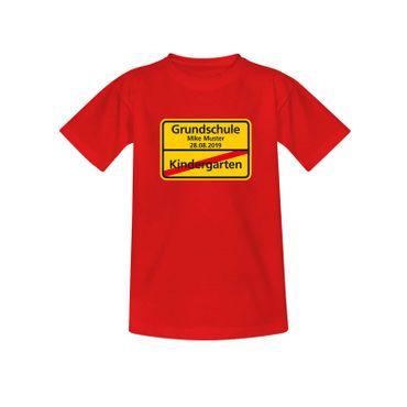 T-Shirt Kindergarten/Grundschule Wunschname Einschulung 10 Farben Kinder 98-164 – Bild 10