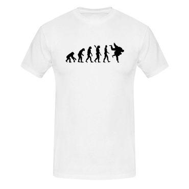 T-Shirt Evolution Judo Kampfsport Wurf Judoka Anzug 13 Farben Herren XS - 5XL – Bild 4