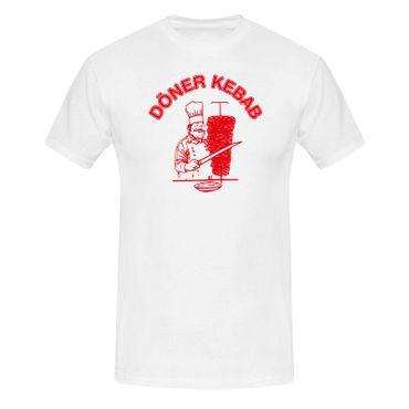 T-Shirt Döner Kebab Imbiss Karneval Party Kostüm lustig 13 Farben Herren XS-5XL – Bild 4