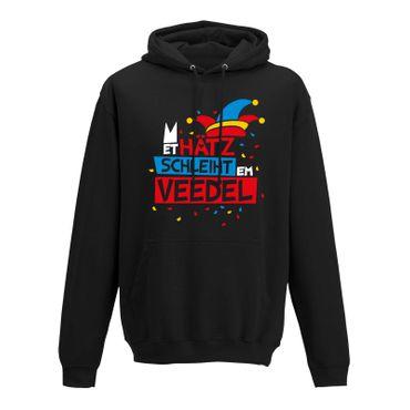 Hoodie Et Hätz schleiht em Veedel Karneval Fasching Köln 10 Farben Herren XS-5XL – Bild 3