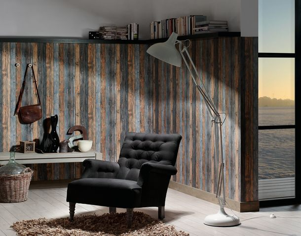 Vlies Tapete Holzoptik braun grau AS Creation 9086-12 online kaufen