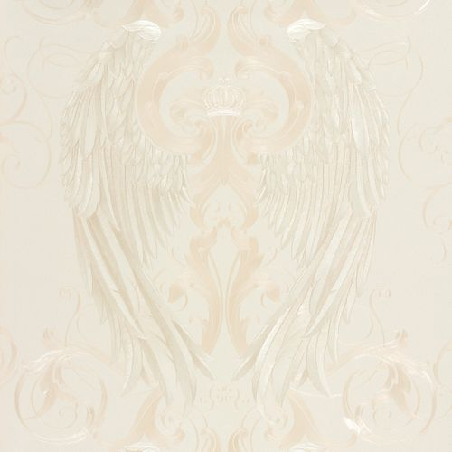 Glööckler wallpaper angel wings beige gloss 52593