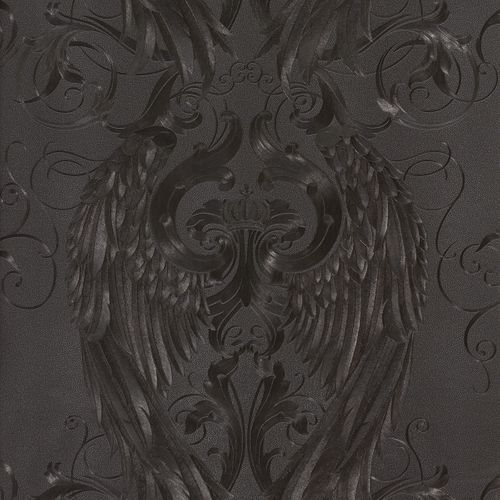 Glööckler wallpaper angel wings black gloss 52578