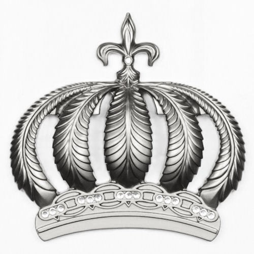 Harald Glööckler Wall Decoration 52719 crown stones silver online kaufen