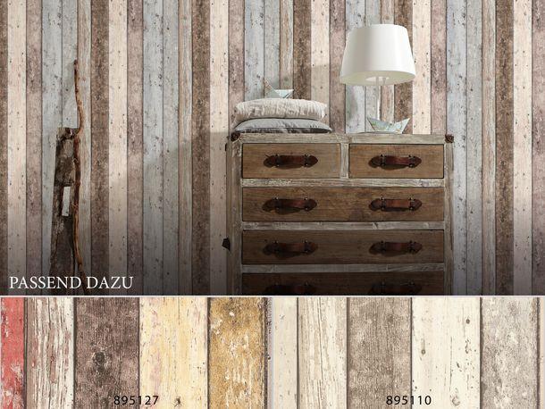 Vliestapete Holzoptik Planken beige grau 8550-39 online kaufen