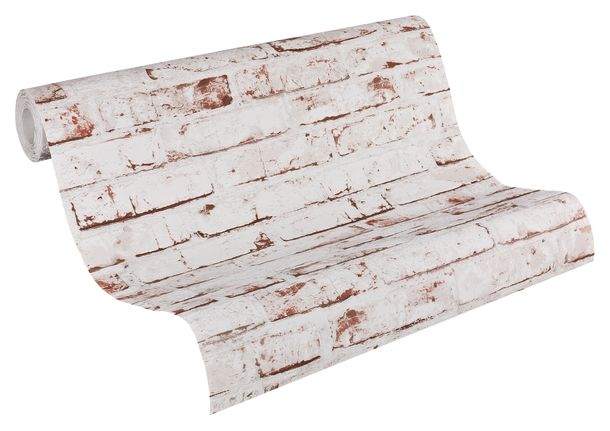 Wallpaper stone clincer design white red AS Creation 9078-13 online kaufen