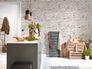 Vliestapete livingwalls Küche New England 2 Stein-Optik braun weiß 9078-13 10