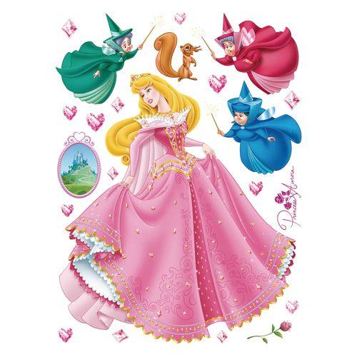 Kinder Wandsticker Wandtattoo Disney Princess Aurora