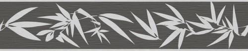 Jette Joop 2 Vliesborte 2941-42 Blätter schwarz grau