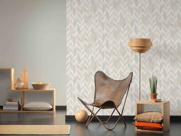 Wallpaper Non-Woven structure striped cream white 9130-50 online kaufen