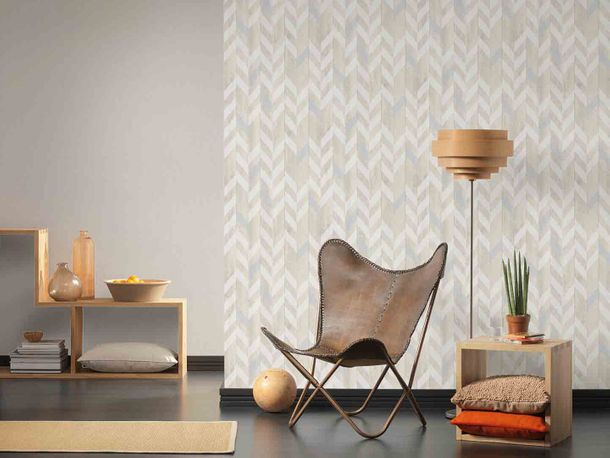 Wallpaper Non-Woven structure striped cream white 9130-12 online kaufen