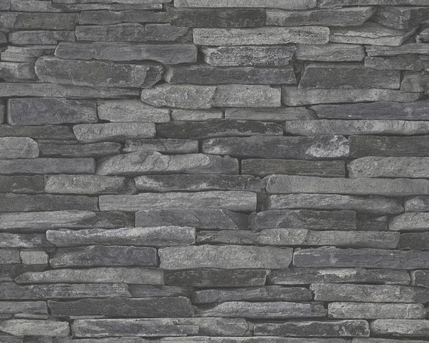 Wallpaper stone wall grey AS Creation 9142-24 online kaufen
