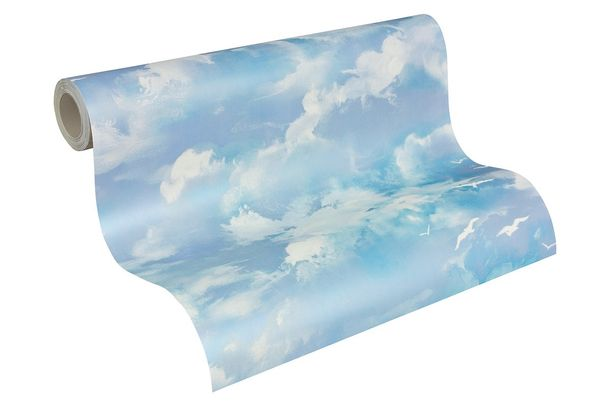 Dekora Natur Tapete AS Creation 560414 Wolken blau grau online kaufen