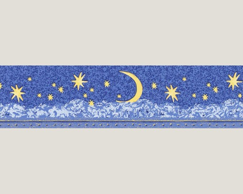 Dekora Natur Tapete Leuchtbordüre 9116-12 Sterne blau online kaufen