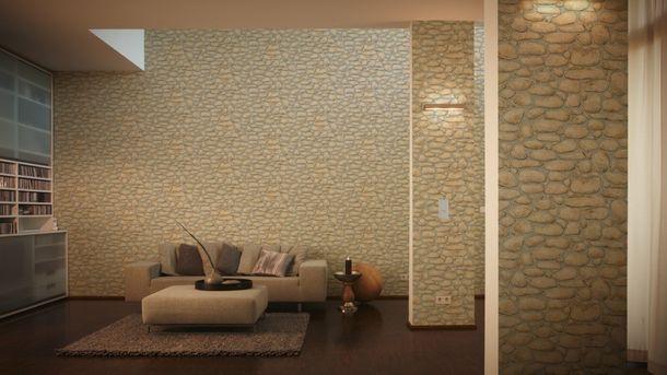 Tapete Mauer Kieselstein beige grau 8345-15 online kaufen