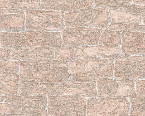 Dekora Natur Tapete AS 3438-26 Glitzer Steinmauer beige online kaufen