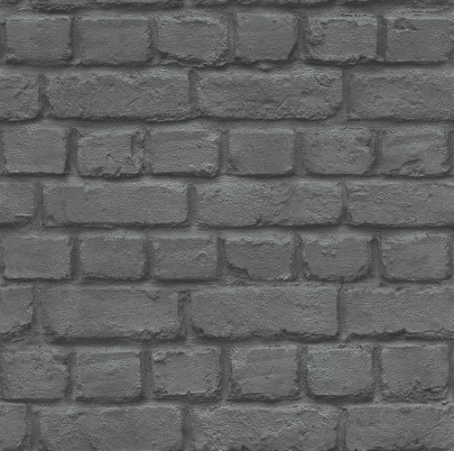Teen's Wallpaper Stone Wall Brick black Rasch 226744 online kaufen