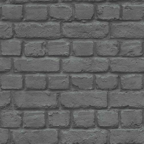 Teen's Wallpaper Stone Wall Brick black Rasch 226744
