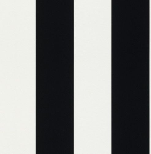 Wallpaper striped Rasch Just me! black white 286694