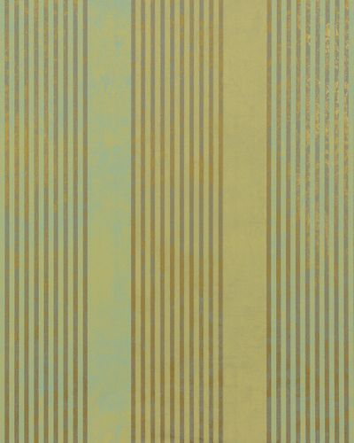 Non-woven wallpaper 53103 stripes green gold grey