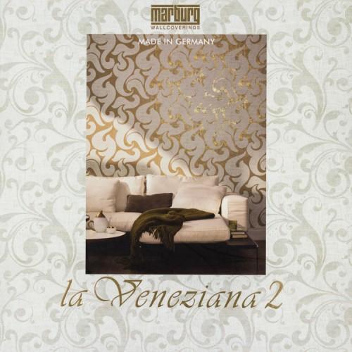 Non-woven wallpaper 53104 stripes cream gold gloss online kaufen