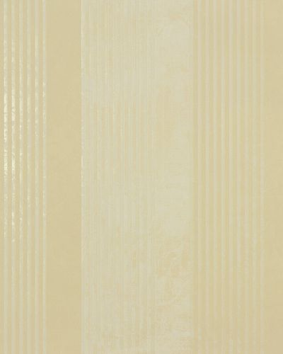 Non-woven wallpaper 53104 stripes cream gold gloss