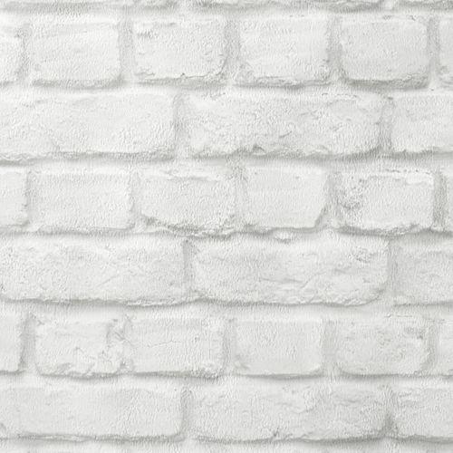 Wallpaper Stone Style Brick Rasch white 226706 online kaufen