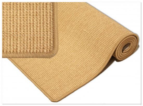 Sisalteppich 100% NATUR SISAL Teppich in 4 vers. Größen Farbe Sisal Natur Teppich online kaufen