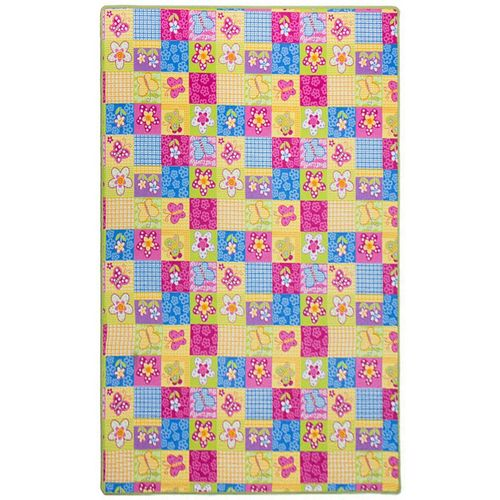 Patchwork Carpet 133x180 cm Kids Rug Butterfly Flowers colorful online kaufen