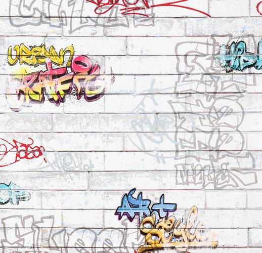 Kindertapete Boys & Girls 93561-1 Mauer Graffiti bunt   online kaufen
