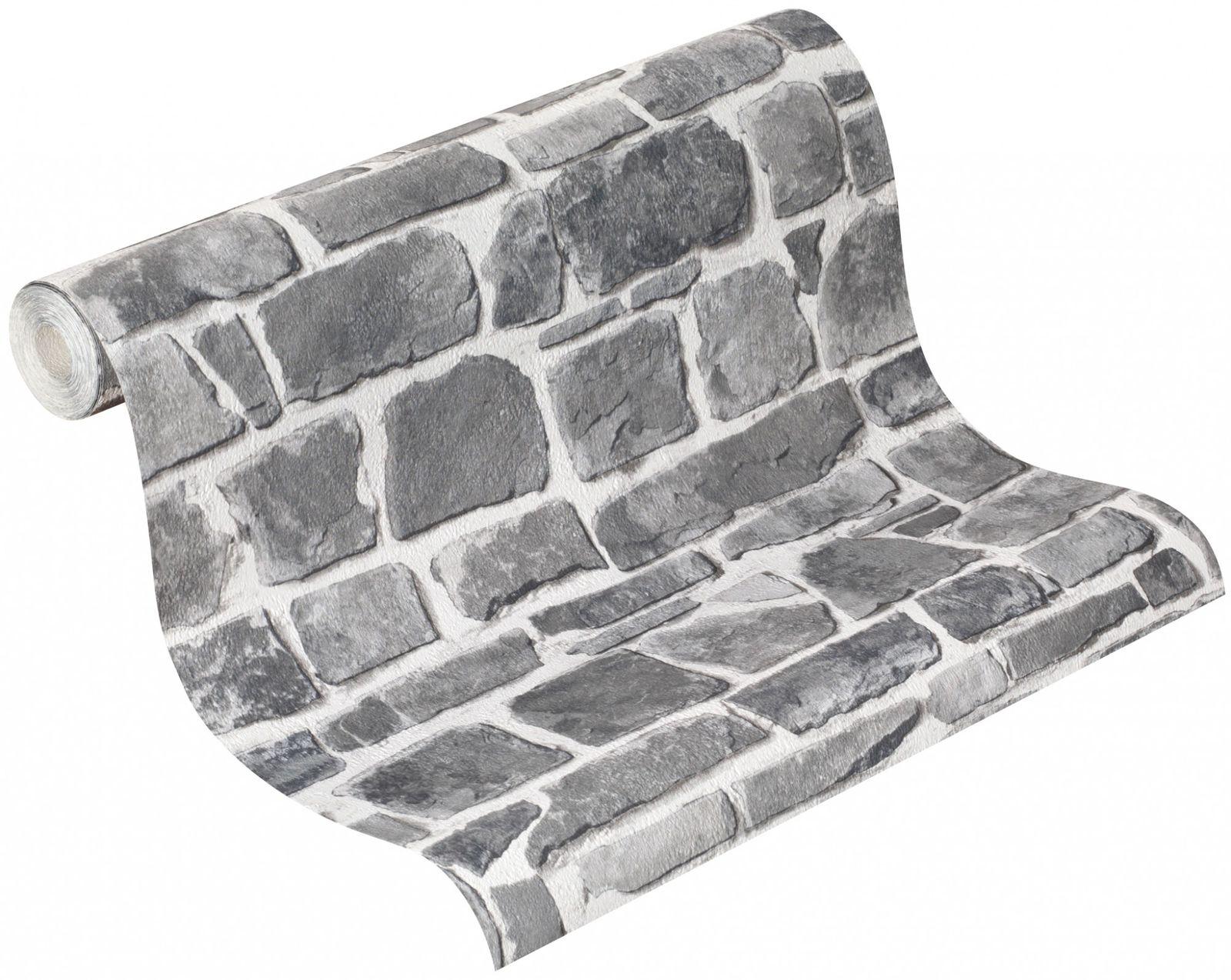 Wallpaper Rasch Stone Grey 265620