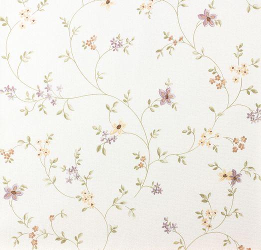Fleuri Pastel Vliestapete Landhaus 93770-1 937701 Blumenranke violett grün weiß online kaufen