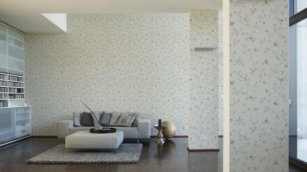 Fleuri Pastel Vliestapete 93770-1 Blumenranke grün weiß online kaufen