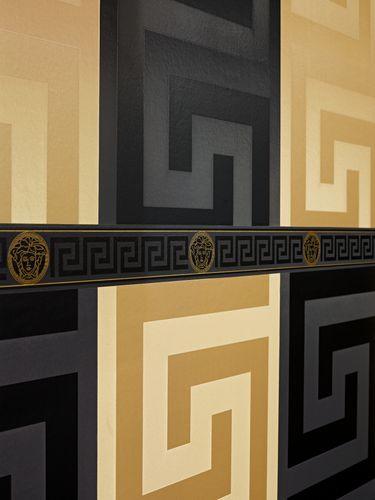 Versace Home Bordüre Medusa schwarz gold Glanz 93522-4 online kaufen