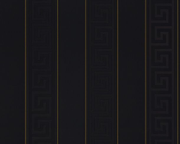 Versace Home Wallpaper striped black gold gloss 93524-4 online kaufen