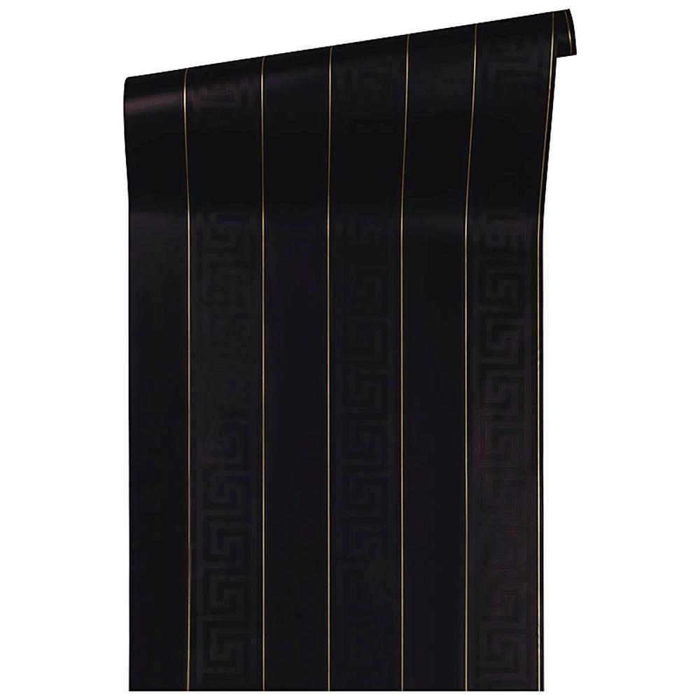 versace home tapete streifen schwarz gold glanz 93524 4. Black Bedroom Furniture Sets. Home Design Ideas