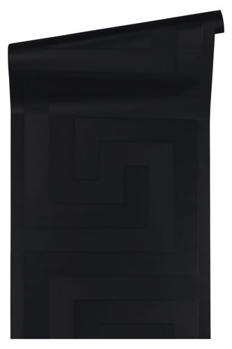 Versace Home Wallpaper greek black gloss 93523-4