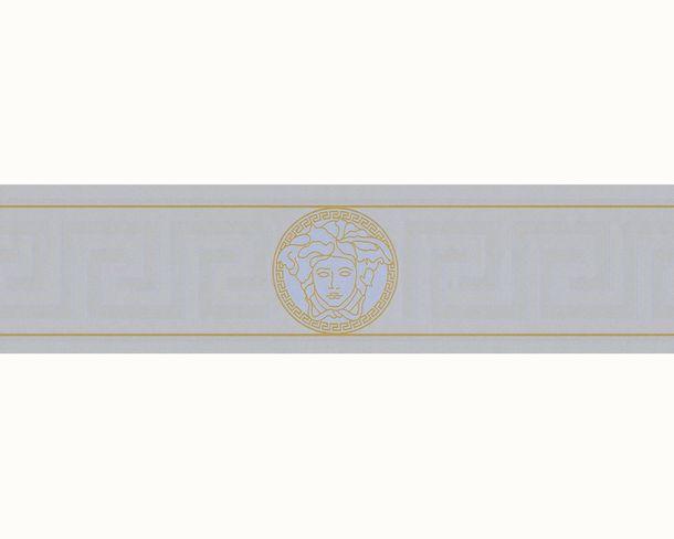 Versace Home Bordüre Medusa silbergrau gold Glanz 93522-5 online kaufen