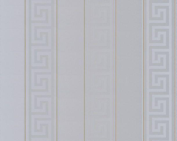 Versace Home Wallpaper striped grey gold gloss 93524-5