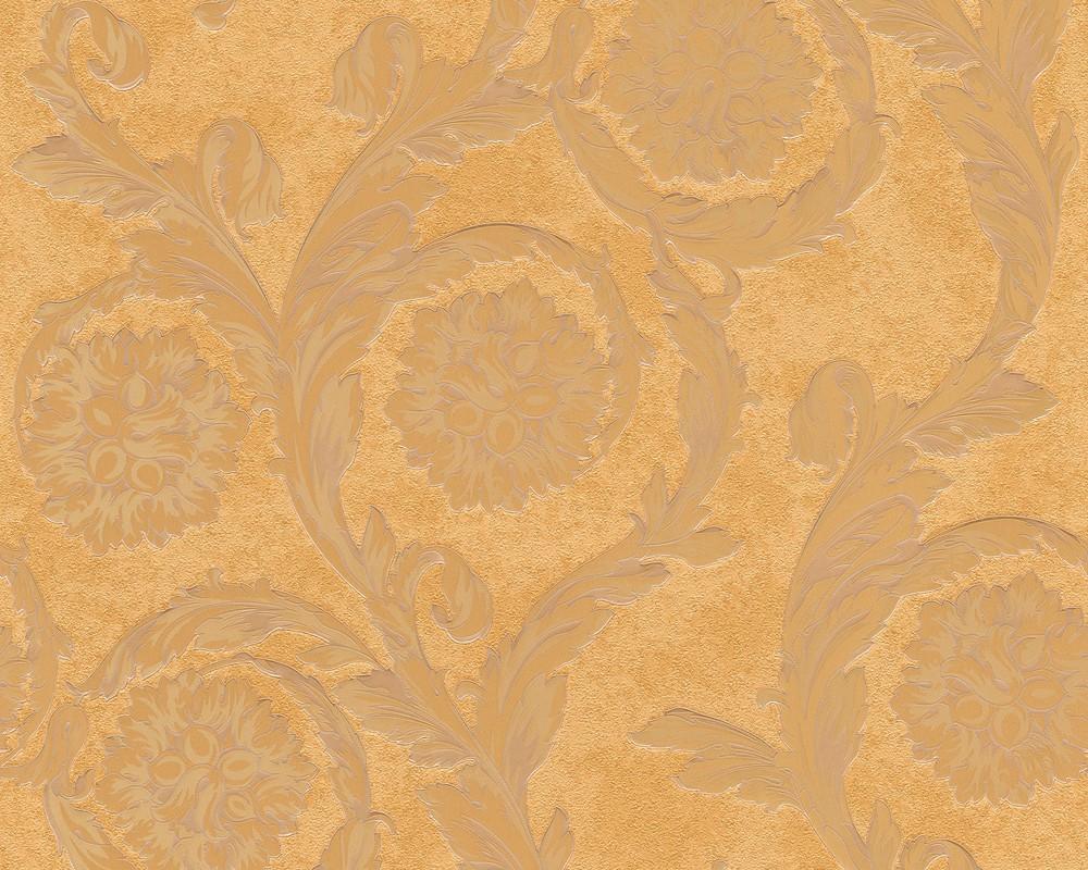 Versace home tapete barock beige braun metallic 93588 2 - Tapete braun beige ...