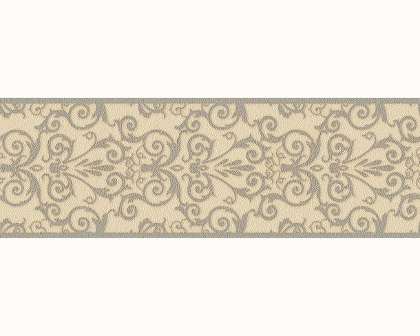 Versace Home Bordüre Barock Struktur beige grau 93547-5 online kaufen