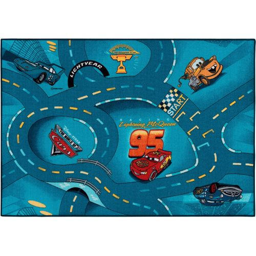 Street carpet Cars World of Cars 95x133 cm blue
