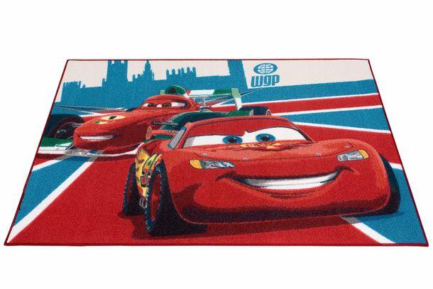 Kinderteppich Cars 2 McQueen & Francesco 95x133 cm rot online kaufen