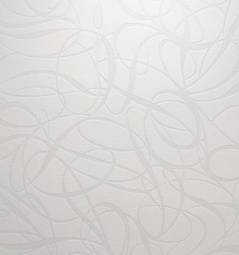 Wallpaper non-woven retro 1320-55 white metallic