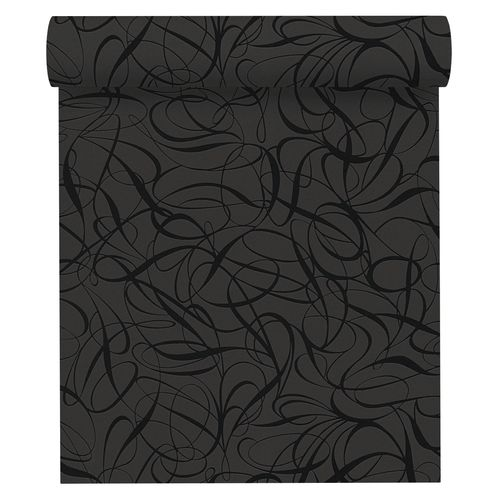 Wallpaper non-woven retro 1320-62 black metallic