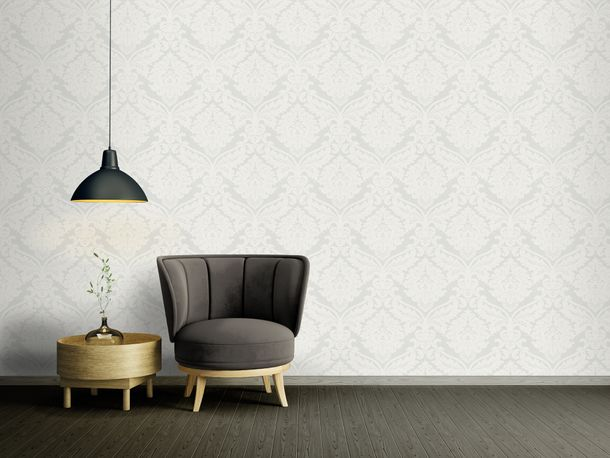 Wallpaper non-woven baroque white cream 5543-38 online kaufen