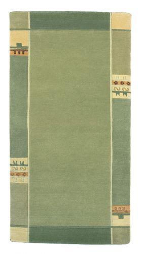 Handgeknüpfter Original Tibet Nepal Teppich Padma 1047 74x138 cm lind grün online kaufen