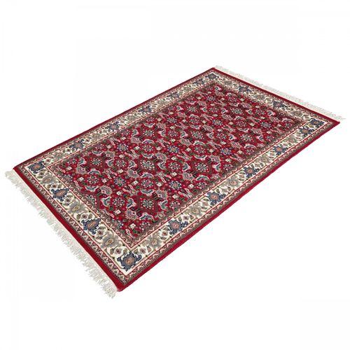 Handgeknüpfter Orient Indien Teppich Leetchi 72x140 cm rot creme online kaufen