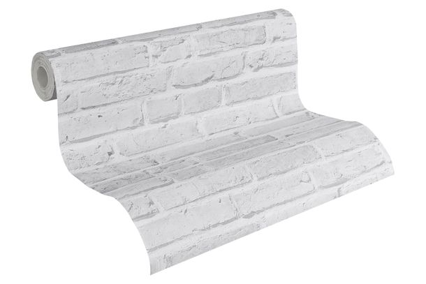 Wallpaper stone clincer bricks grey AS Creation 94283-2